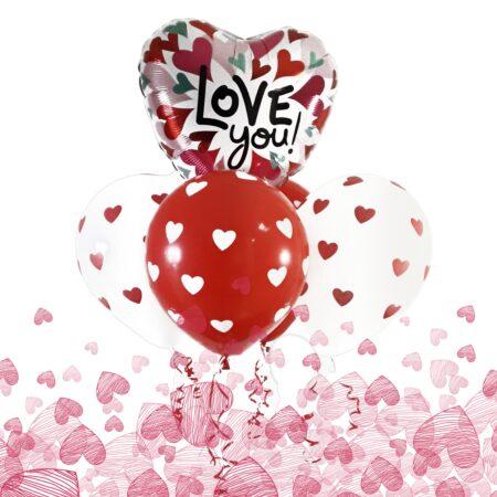 Valentines Balloons and chocolates